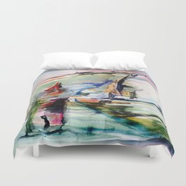 Navigating the existence Duvet Cover