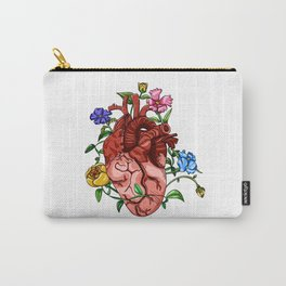 An Overgrown Floral Heart Carry-All Pouch