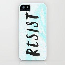 RESIST 5.0 - Black on Teal #resistance iPhone Case