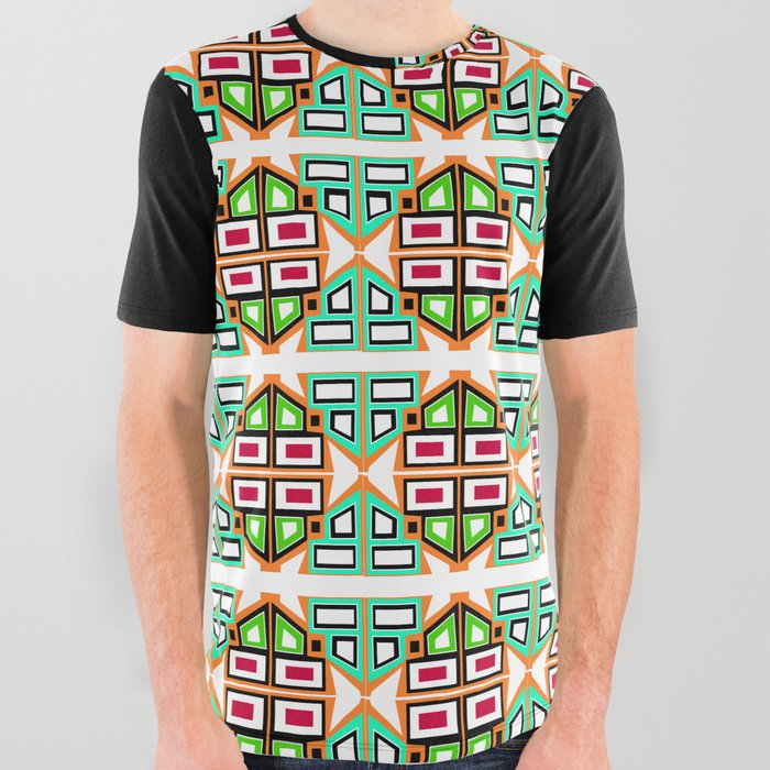Retro_modern_geometric_tiles_All_Over_Graphic_Tee_by_hjDesigns__Large
