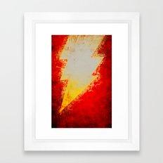 Shazam! Framed Art Print