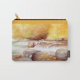 East Lyn river waterfall Carry-All Pouch
