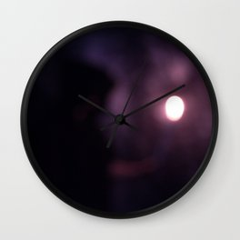 Abstract Hooded Figure with Candle Wall Clock