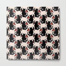cat dragon skull pattern Metal Print