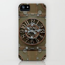 Steampunk Klokface iPhone Case