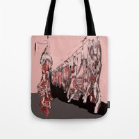 meat Tote Bags featuring Meat by Robert Morris