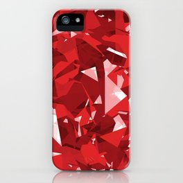 Abstract Red iPhone Case