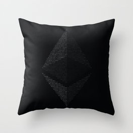 Ethereum Binary Throw Pillow