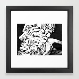 my two persons Framed Art Print