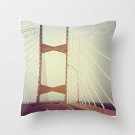 A river runs under it Throw Pillow