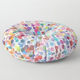 Watercolor Drops Floor Pillow
