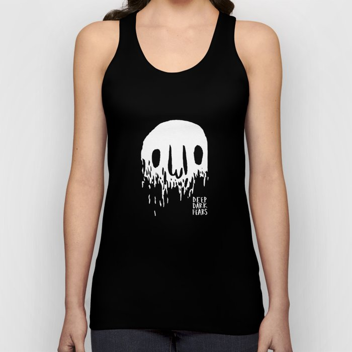 Disappearing Face - White Unisex Tank Top