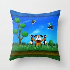 Duck Hunt Throw Pillow