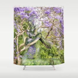 Jacaranda Spirit Shower Curtain
