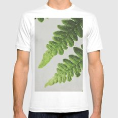 Fern Mens Fitted Tee White MEDIUM