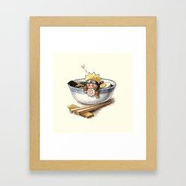 Naruto Ramen Framed Art Print
