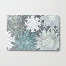 Holiday Snowflakes Metal Print