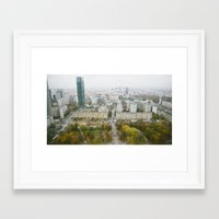 poland Framed Art Prints featuring Warsaw, Poland by Tomek Baginski