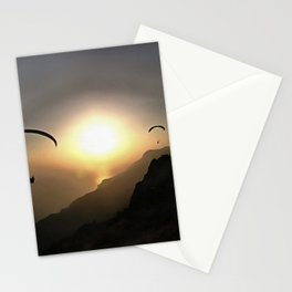 Paragliders Flying Without Wings Stationery Cards