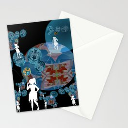 Girl with Balloons Dreamscape Stationery Cards