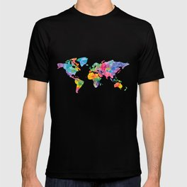 Geometric map of the world T-shirt