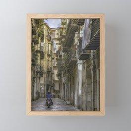 Old City Lane Framed Mini Art Print