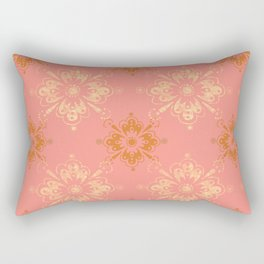 Ornament in Peach and Gold Rectangular Pillow