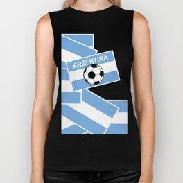 Argentina Football Biker Tank