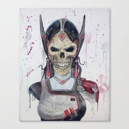 Symmetra Skull Canvas Print