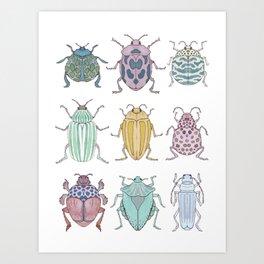 Beetle Grid Art Print