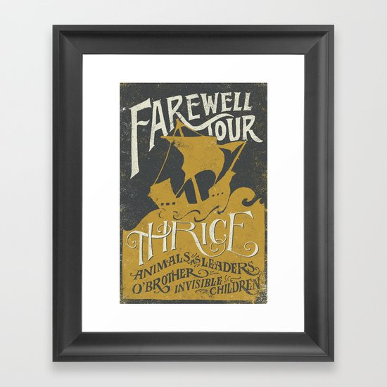 Thrice Farewell Tour Alternate (Limited) Framed Art Print