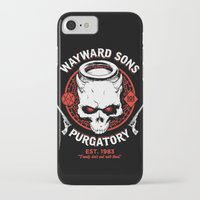 sons of anarchy iPhone & iPod Cases featuring Wayward Sons by Manny Peters Art & Design