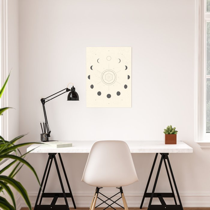 Moon Phases Light Poster