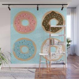 Sweet Sprinkled Donuts Wall Mural