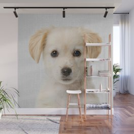 Golden Retriever Puppy - Colorful Wall Mural