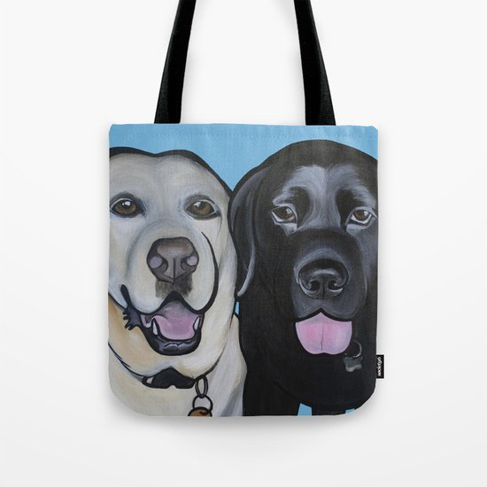 Indie & Daisy the labs Tote Bag