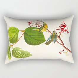 Pine Swamp Warbler Bird Rectangular Pillow