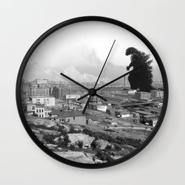 Old Time Godzilla Wall Clock