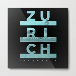 Zurich City Lifestyle Urban Design Metal Print