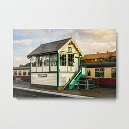 Signal Box at Sheringham Metal Print