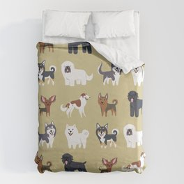RUSSIAN DOGS Duvet Cover