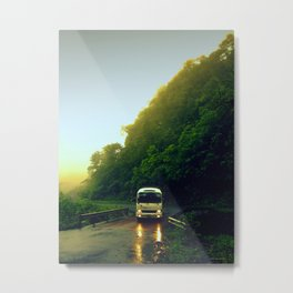 Mountain Bus Metal Print