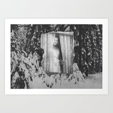 Sylvia in the snow Art Print