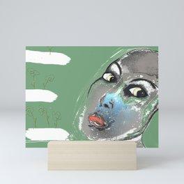 Lady Green Mini Art Print