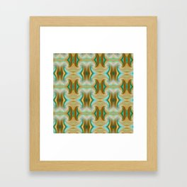 Blue-green and Brown pattern Framed Art Print