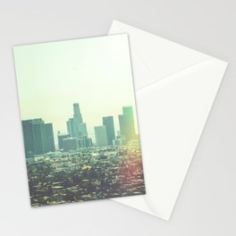 Downtown Los Angles Light Stationery Cards