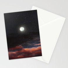 Dawn's moon Stationery Cards