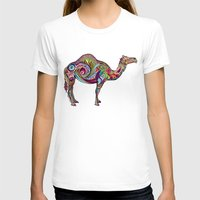 camel T-shirts featuring Camel by Green Girl Canvas
