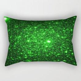 gAlAXy Green Sparkle Stars Rectangular Pillow
