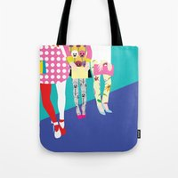 chic Tote Bags featuring chic by BuBu illustration